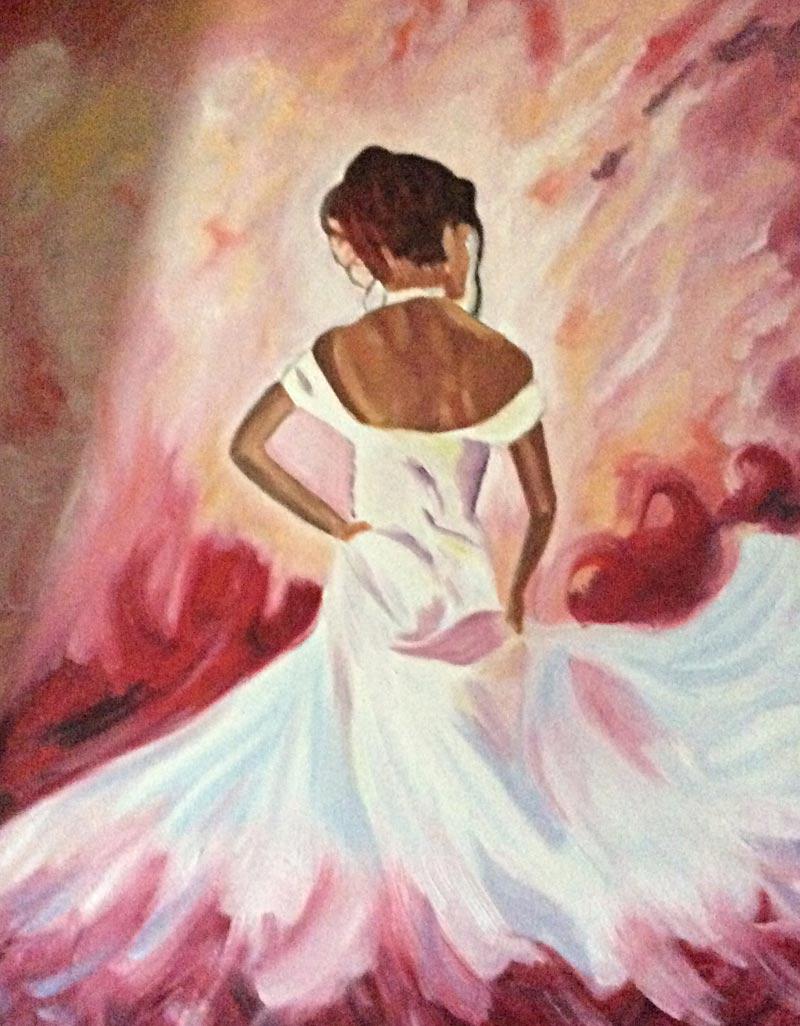dame-robe-blanche-élégante